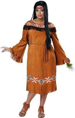 Cherokee Indian Maiden Dress Native American Costume Adult Women Plus Size