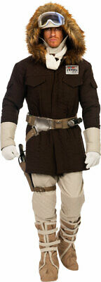 Licensed Star Wars Hoth Han Solo Parka Pants Attire Halloween Costume Adult Men