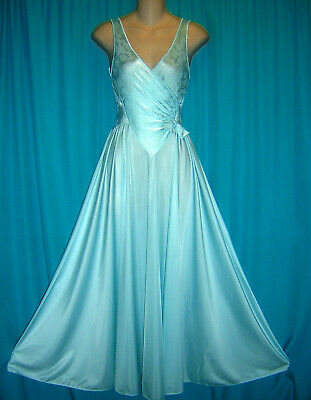 9ea629b82 VTG OLGA FULL Sweep Nightgown Negligee Gown Style 92280 Ivory Sz  L ...