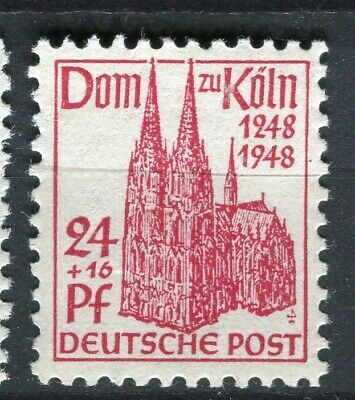 GERMANY; ALLIED OCC. British & US Zone 1948 Cologne Cathedral mint 24pf.