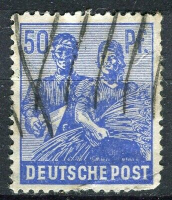 GERMANY; ALLIED OCC. ZONES 1947-48 pictorial issue fine used 50pf. value