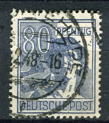 GERMANY; ALLIED OCC. ZONES 1947-48 pictorial issue fine used 80pf. value