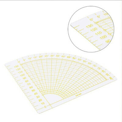 Accessory Acrylic Needle Patchwork Ruler Fan Shape Arts Crafts Sewing Tools
