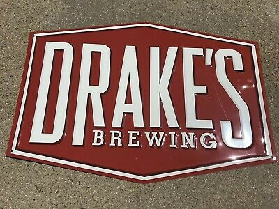 """DRAKE'S BREWERY Beer Tin Metal Sign 18"""" x 12"""" Brand New"""