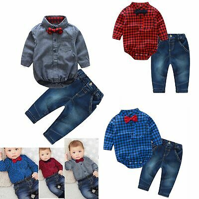 Toddler Kids Baby Boy Outfits Clothes  Long Sleeve Tops+Pants Trousers 2PCS Set