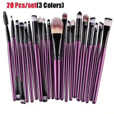 20Pcs Makeup Brushes Kit Set Powder Foundation Eyeshadow Eyeliner Lip Brushes