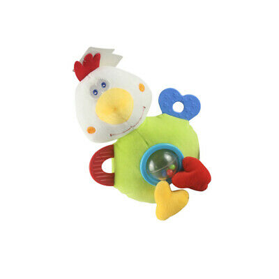 Baby Kids Rattle Toys Chicken Animal Plush Hand Bell Baby Stroller Hanging LC
