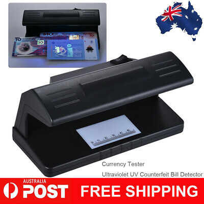 Ultraviolet UV Counterfeit Bill Detector Forged Money Tester Fake Polymer Y7S9