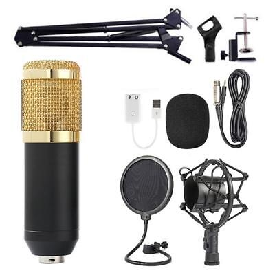 BM800 Condenser Microphone Kit Pro Audio Studio Recording &Brocasting Adjustable