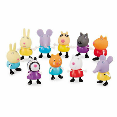 10PCS Peppa Pig Friends Emily Rebecca Suzy Action Figures Toys Kids Gift