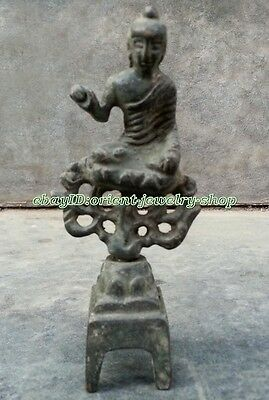 antique excellent Dynasty Old Chinese Bronze Buddha Statue