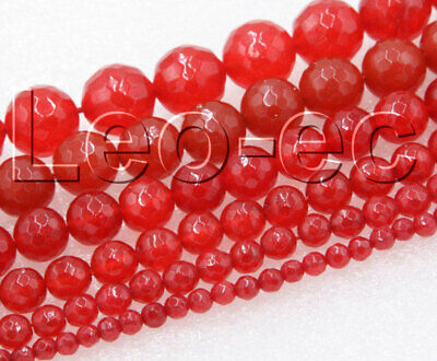 """natural Gemstone Round Faceted red Agate Onyx Loose Beads Strand 15"""" V1188"""
