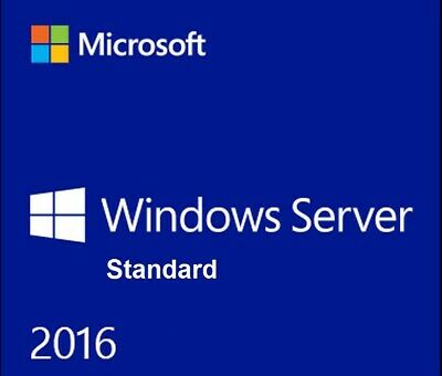 MICROSOFT WINDOWS SERVER 2016 STANDARD 64BIT 2 CPU 16 Core