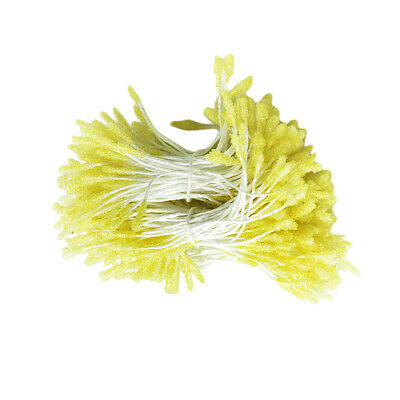 300 pcs Floral Stamens Double Tip Handcraft Flower Making Fluorescent Yellow