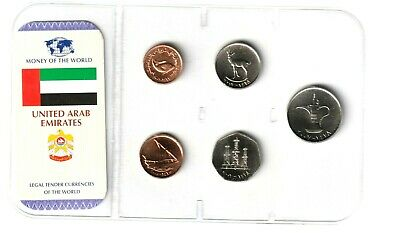 Emiratos Arabes  2001 - 2007 Set 5 Monedas 1,5,25,50,Fils + 1 Dirham Unc