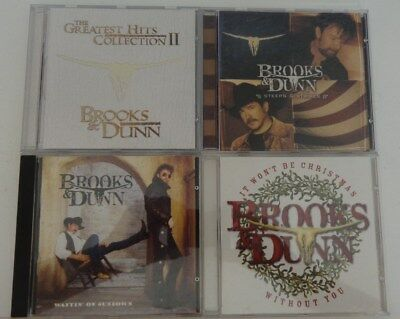 Lot of 4 Brooks & Dunn Music CD's It wont be Christmas Without you Greatest Hits