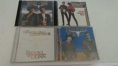 Lot 4 Brooks & Dunn Music CD's Greatest Hits Brand New Man Tight rope Hard Work