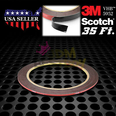2mm x 35FT Genuine 3M VHB #5952 Double-Sided Mounting Tape Acrylic Foam Adhesive