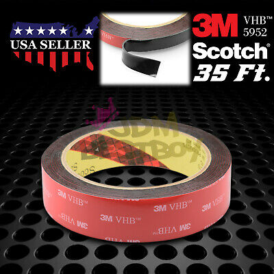 25mm x 35FT Genuine 3M VHB #5952 Double-Sided Mounting Tape Acrylic Foam GoPro