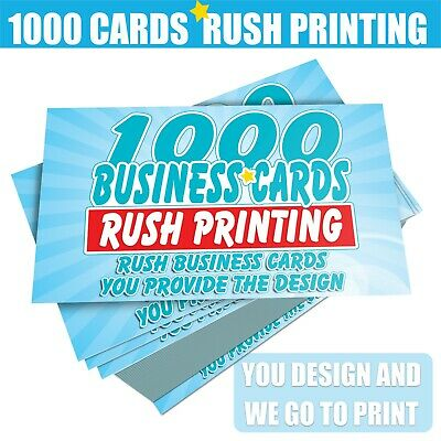 1000 Color Business Cards • Rush Printed • 16Pt