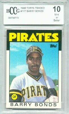 1986 Topps Traded Barry Bonds Rookie Graded BCCG 10