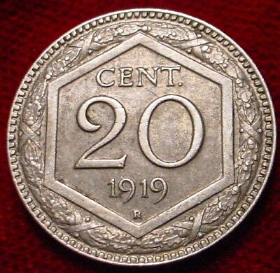 3 Available 1 Coin Only 1919 Italy 20 Centesimi Circulated