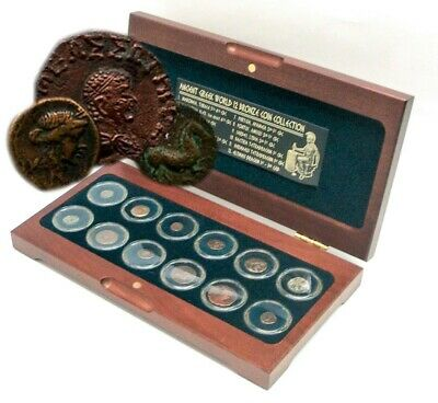 The Greek World: Box of 12 Bronze Coins from the VERY Ancient Greece 600BC - 3AD