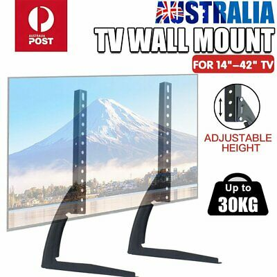 """Universal Table Top TV Stand Legs Bracket Mount Base for 14-42"""" LED LCD Screen"""
