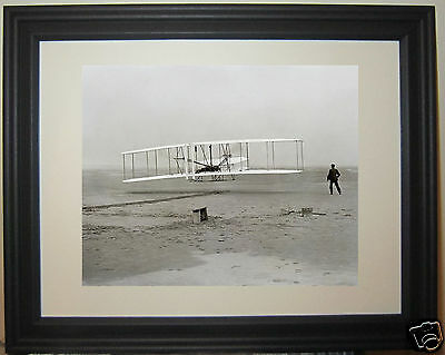 Wright Brother Kitty Hawk First Flight 1903 NC North Carolina Framed Photo