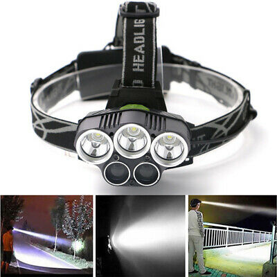 50000LM T6 5LED Headlamp Rechargeable Headlight Flashlight Torch +Battery CHY