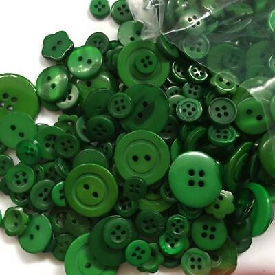 BB BUTTONS BULK MIXED LOT pack of 100 GREEN sewing craft acrylic