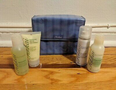 NEW Frederic Fekkai Glossing Shampoo Conditioner Cream Hairspray Gift Set Case