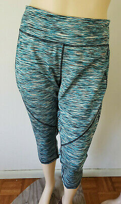 701bb2d3fa1611 NWT Tek Gear Womens Active Pants Green Capri Length Gym Exercise Track 3X