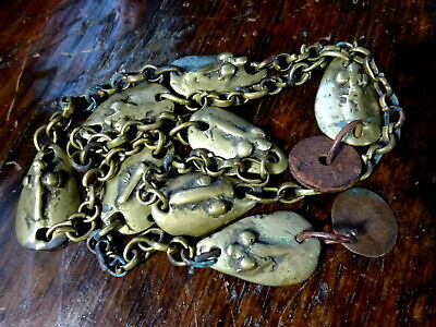 Antique Tribal Yoruba Nigeria Opele Brass Divination Chain