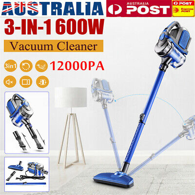 600W 3in1 Corded Stick Vacuum Cleaner Recharge Handheld Handstick Bagless Vac