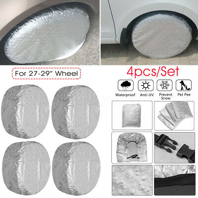 4x 27''-29'' Wheel Tire Cover Protector For Camper RV Trailer Car Waterproof