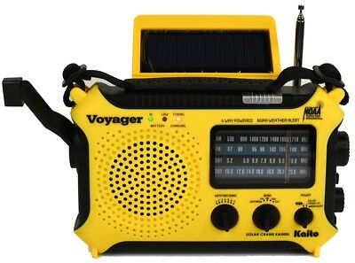 Kaito Yellow KA500L AM/FM Solar NOAA Weather Radio & USB AC Adapter! Free Ship!