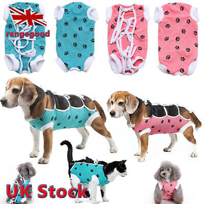 Soft Pet Cat Dog Strappy Surgery Medical Surgical Recovery Suit Shirt Coat Vest
