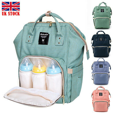 UK Mummy Backpack Baby Diaper Nappy Backpack Multifunctional Mommy Bag Changing