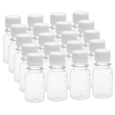 1.7 oz/50ml Plastic Lab Reagent Bottle Small Mouth Container Clear Bottles 20pcs