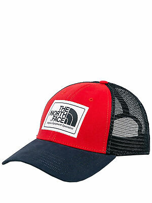 The North Face Mudder Trucker Hat, TNF Red/Urban Navy, Size OS
