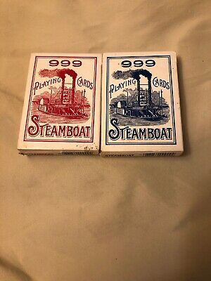Steamboat 999 Pair Vintage Ohio Playing Cards Red And Blue