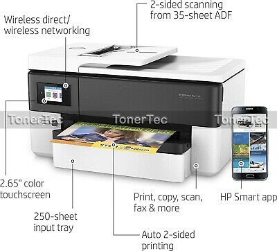 HP Officejet Pro 7720 A3 Wide Format All-in-One Printer+Duplexer+ADF P/N:Y0S18A