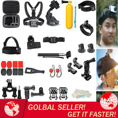 44 in 1 Action Camera Sports Outdoor Accessories Kit GoPro Hero 7/6/5/4/3/2/1 US
