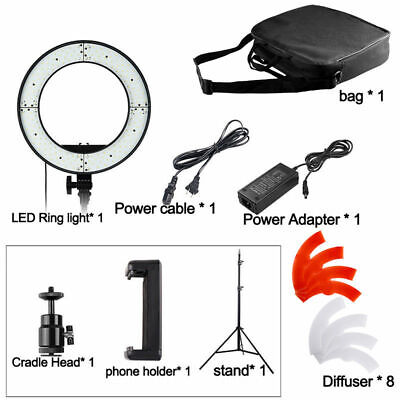 Newest 18-inch Outer Dimmable SMD LED Ring Light Lighting Kit 55 W + light stand