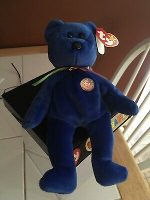 Beanbag Plush Ty Beanie Baby Chubby Royal Dark Blue Teddy Bear Sale Price