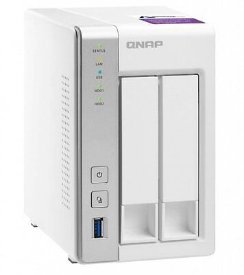 NEW QNAP TS-231P-US 2-Bay Personal Cloud NAS  w/ 4TB (2x2TB) NAS Drives
