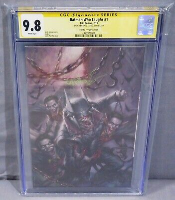 BATMAN WHO LAUGHS #1 (Virgin Variant Signed by Lucio Parrillo) CGC 9.8 DC 2019