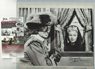 Lana Turner Autographed 8x10 Photo Hollywood Film Actress JSA COA 3 Musketeers