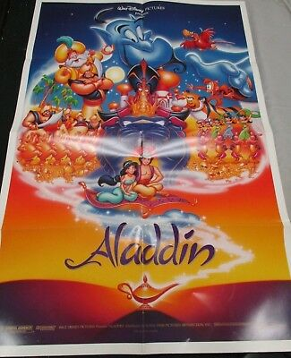Aladdin (1992) Robin Williams Original 1 Sheet Movie Poster D/S-Disney